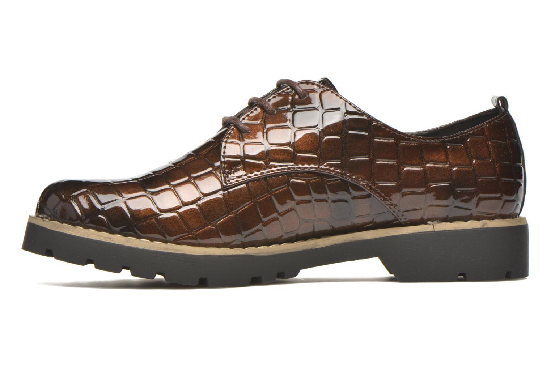 Schnürschuhe I Love Shoes Thada braun ansicht von vorne