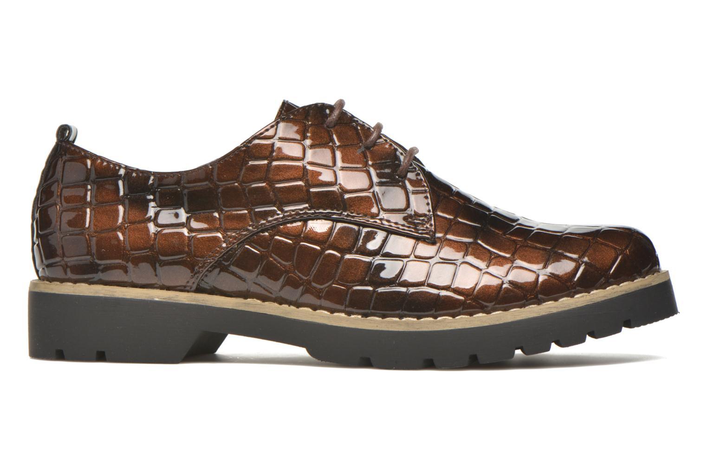 Schnürschuhe I Love Shoes Thada braun ansicht von hinten