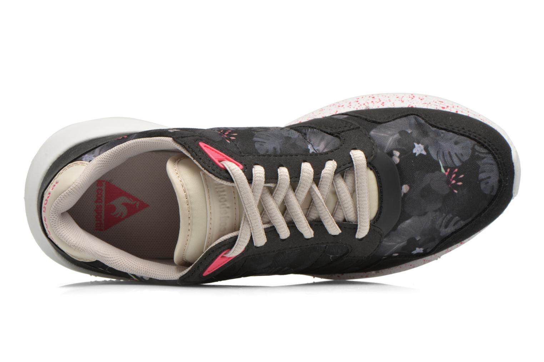 Baskets Le Coq Sportif Omega X W Winter Floral Noir vue gauche
