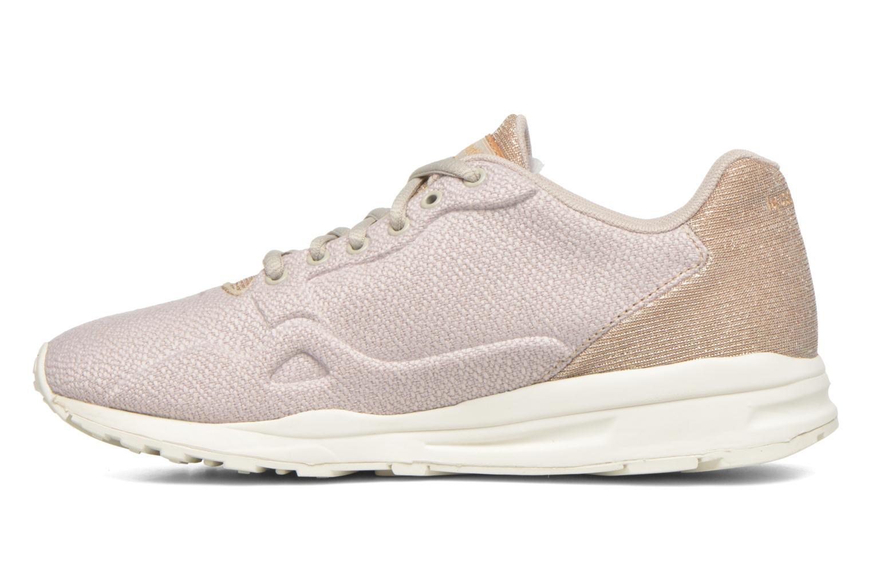 Sneaker Le Coq Sportif Lcs R900 W Glitter beige ansicht von vorne