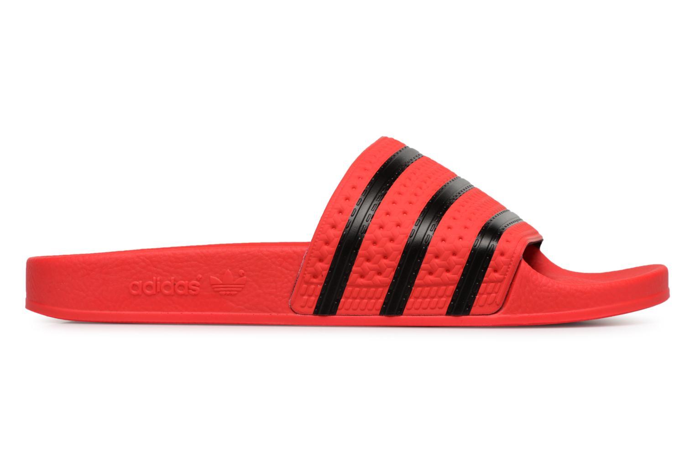 Sandalen Adidas Originals Adilette Rood achterkant