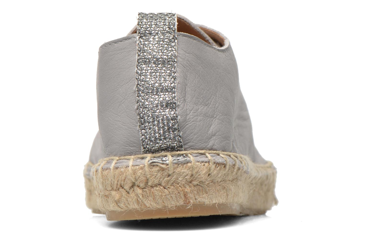 Espadrilles Georgia Rose Dakitte Silver view from the right