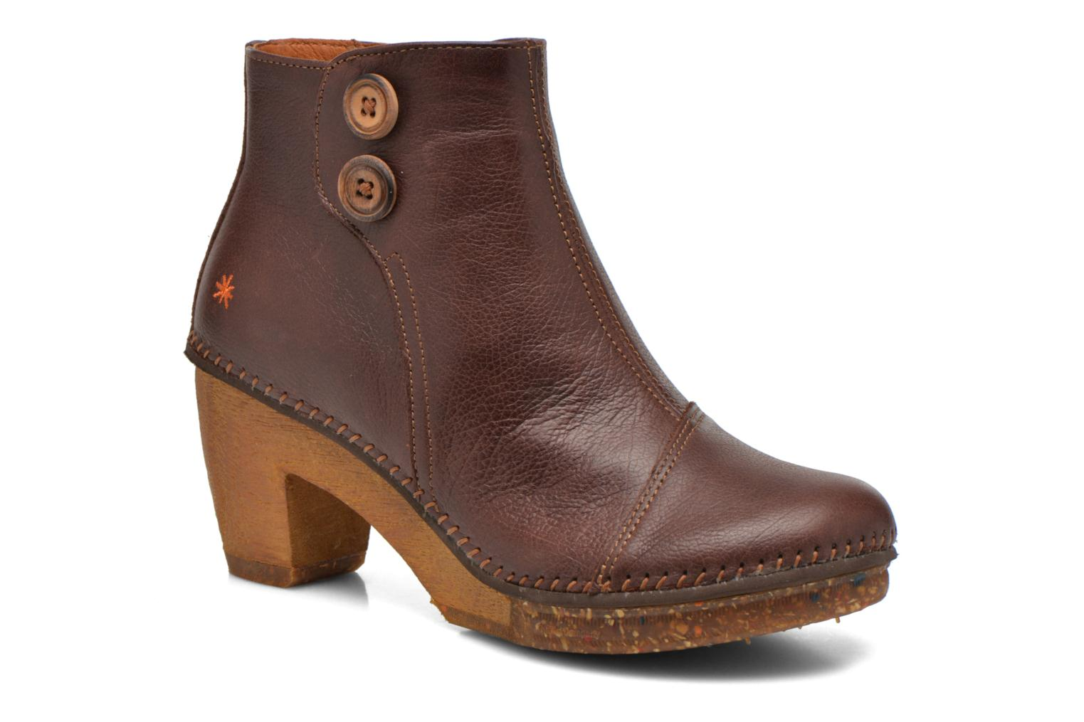 Ankle boots Art Amsterdam 362 Brown detailed view/ Pair view