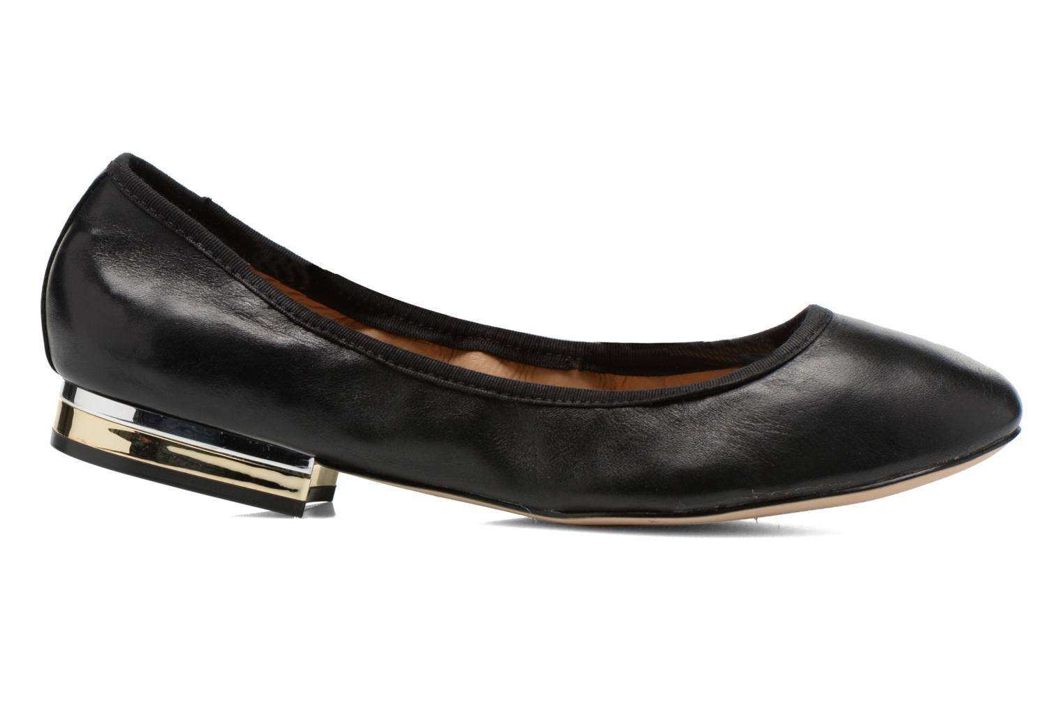 Topley Black leather
