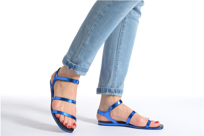 Sandales et nu-pieds Aldo Larieniel Bleu vue bas / vue portée sac
