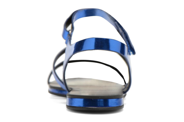 Sandales et nu-pieds Aldo Larieniel Bleu vue droite