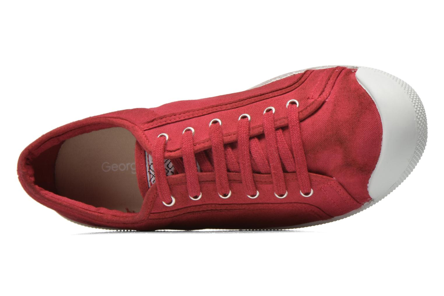 Trainers Georgia Rose Mamine Burgundy view from the left