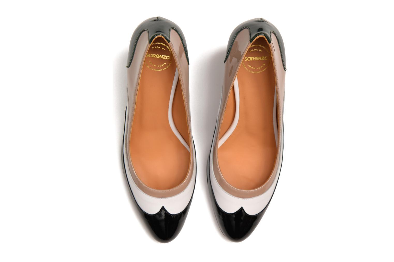 Notting Heels #14 Vernis noir + mestizo blanc + vernis silex + vernis forrest