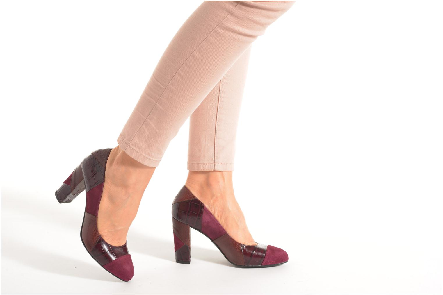 High heels Made by SARENZA My Talon Is Rich #6 Burgundy view from underneath / model view
