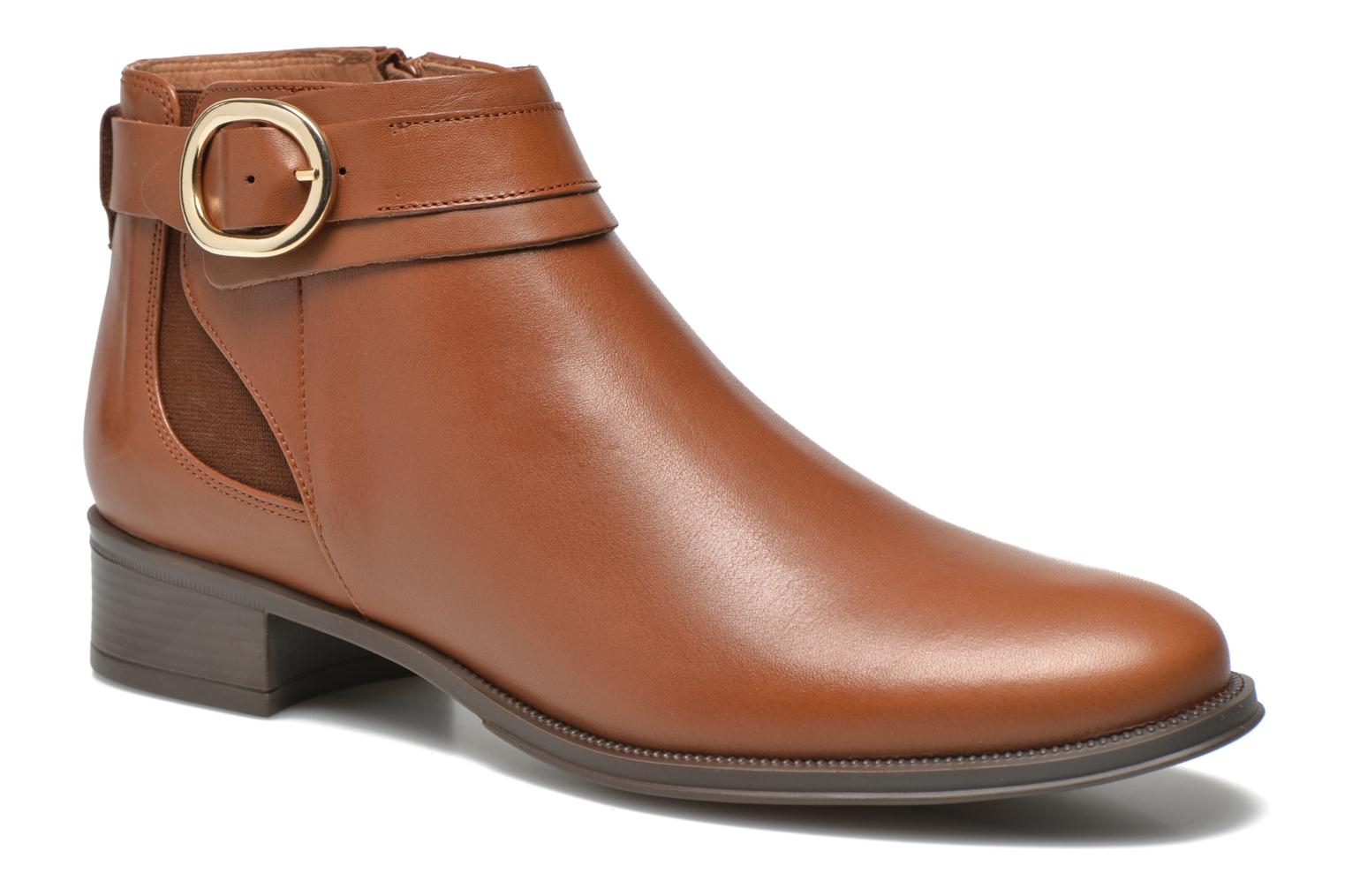 Ankle boots Georgia Rose Eperdreau Brown detailed view/ Pair view