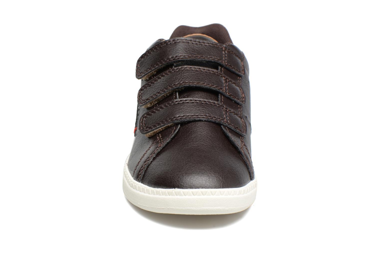 Sneakers Le Coq Sportif Courtone Ps Nero modello indossato
