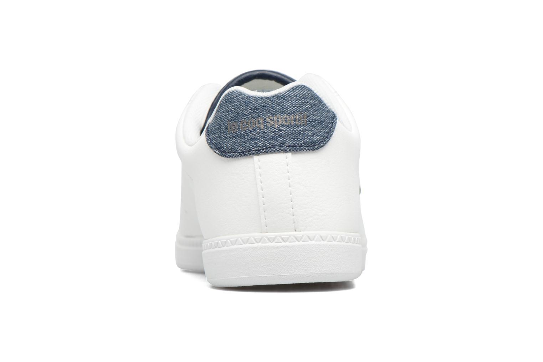Baskets Le Coq Sportif Courtone Gs Blanc vue droite