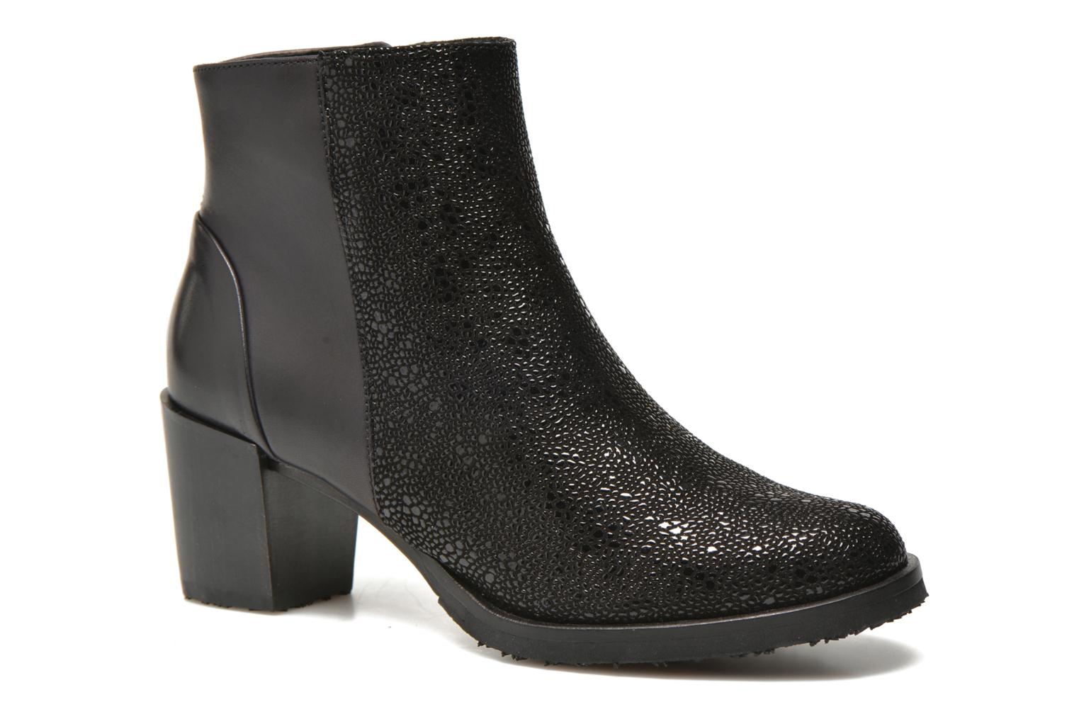 Ankle boots Neosens Pedralva 463 Black detailed view/ Pair view