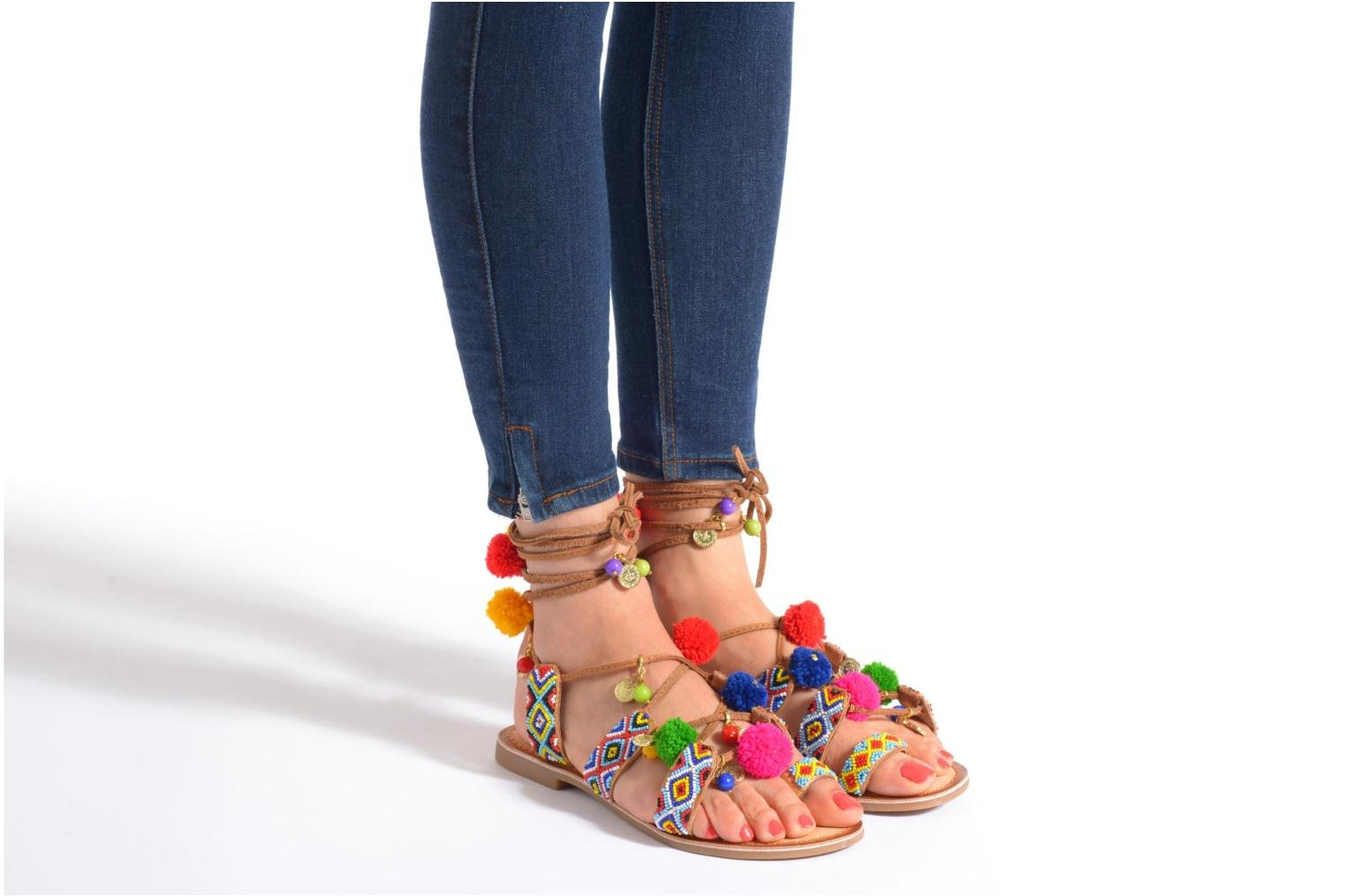 Sandals Gioseppo Omahas Multicolor view from underneath / model view
