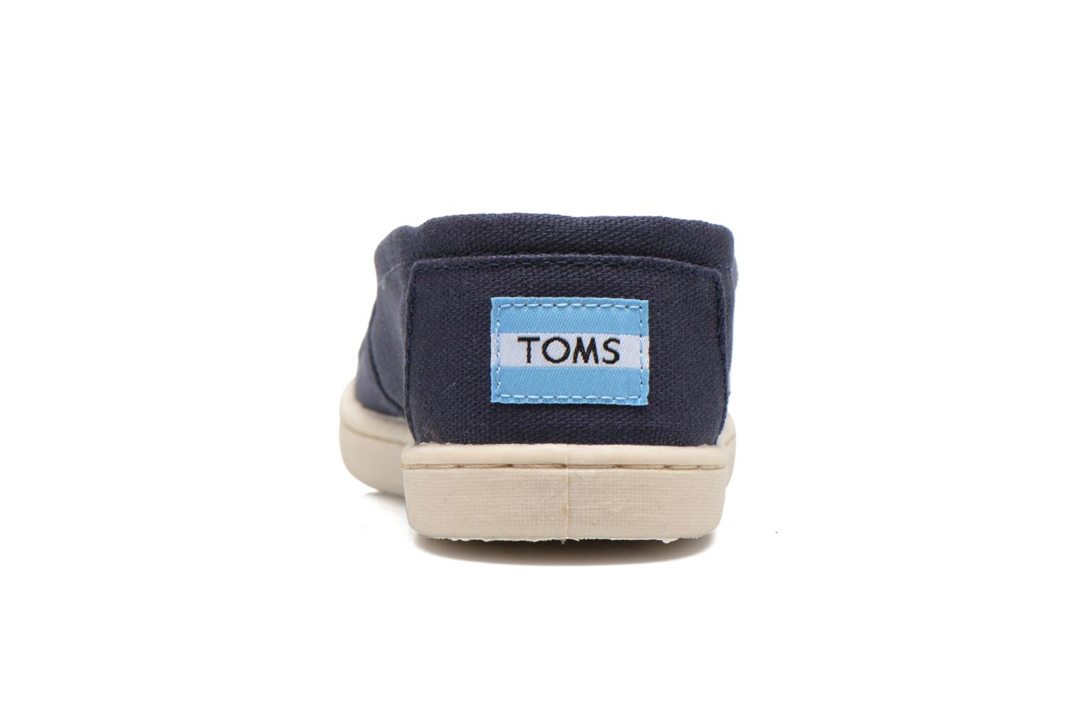 Trainers TOMS Canvas Classics Blue view from the right