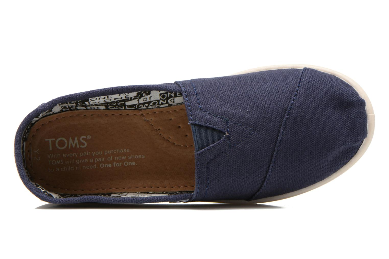 Trainers TOMS Canvas Classics Blue view from the left