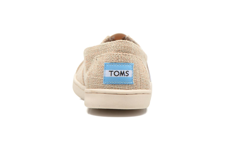 Baskets TOMS Seasonal Classics Beige vue droite