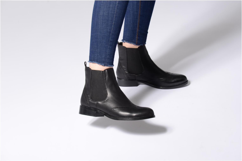 Bottines et boots Buffalo Elb Noir vue bas / vue portée sac