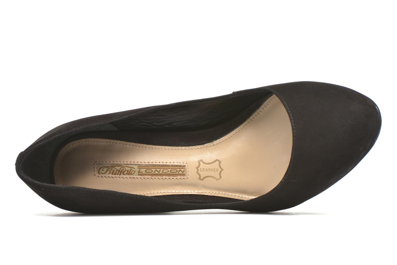 High heels Buffalo Qilda Black view from the left