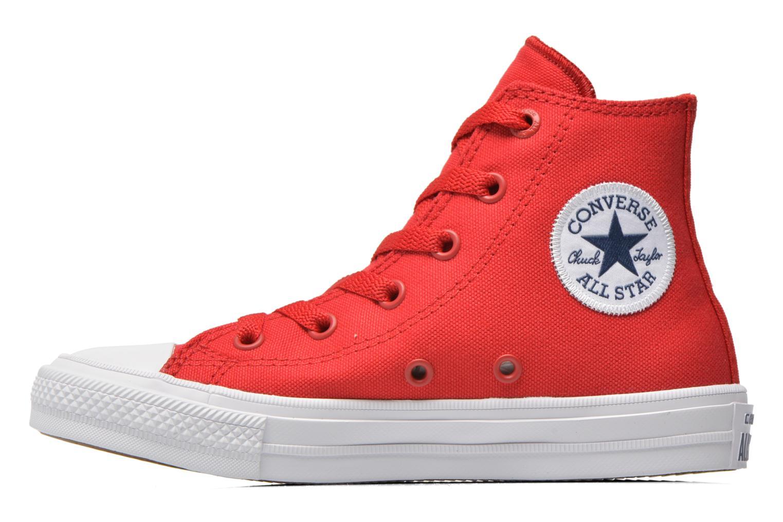 Deportivas Converse Chuck Taylor All Star II Hi Rojo vista de frente