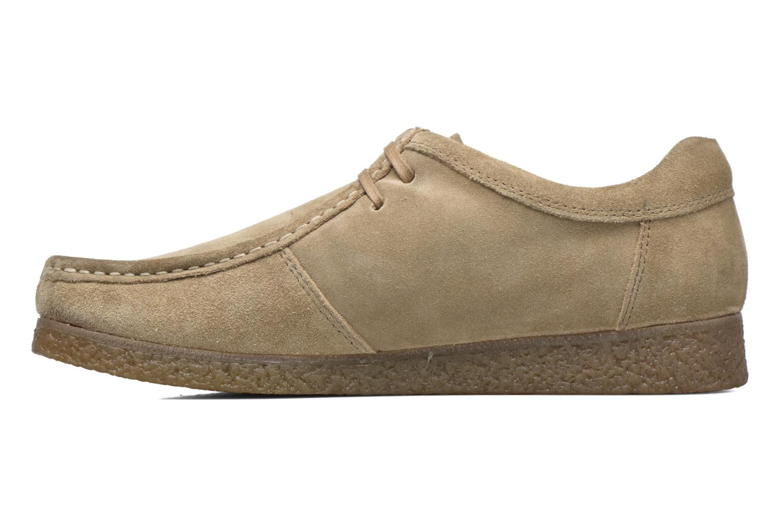 Lace-up shoes Base London Genesis Beige front view