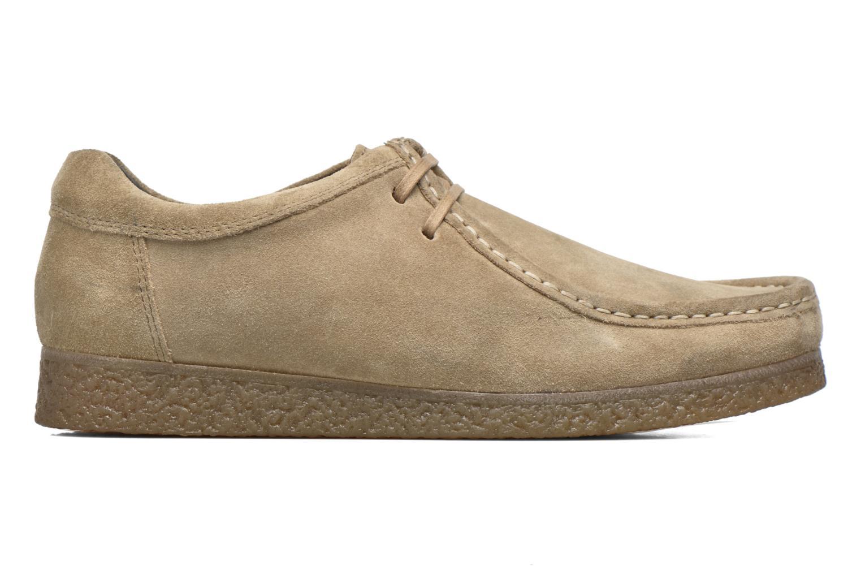 Zapatos con cordones Base London Genesis Beige vistra trasera