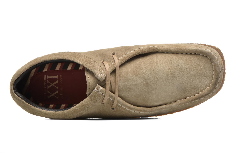 Zapatos con cordones Base London Genesis Beige vista lateral izquierda