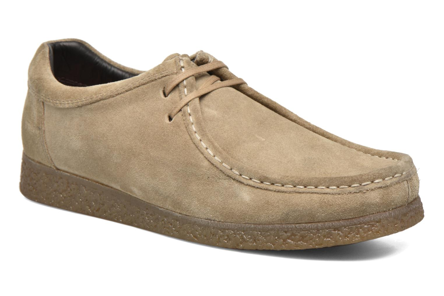 Lace-up shoes Base London Genesis Beige detailed view/ Pair view