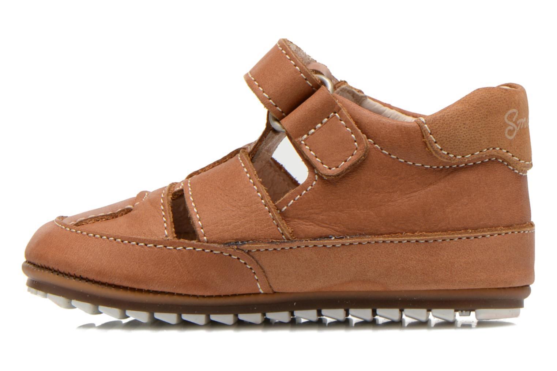 Chaussures à scratch Shoesme Baby-Proof smart 2 Marron vue face