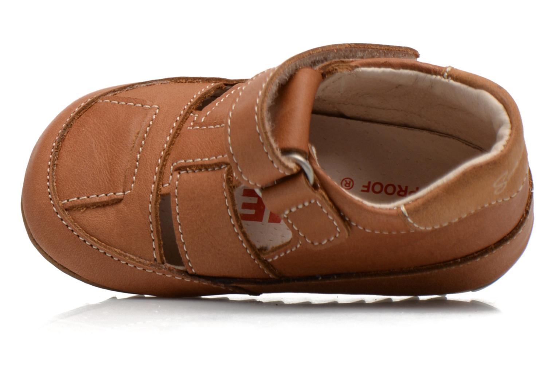 Chaussures à scratch Shoesme Baby-Proof smart 2 Marron vue gauche