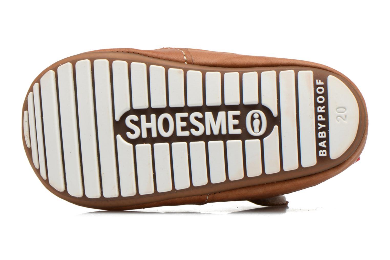 Chaussures à scratch Shoesme Baby-Proof smart 2 Marron vue haut