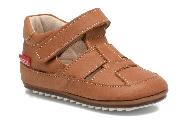 Chaussures à scratch Shoesme Baby-Proof smart 2 Marron vue détail/paire