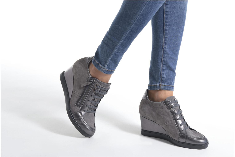 Sneaker Geox D ELENI D D6467D grau ansicht von unten / tasche getragen