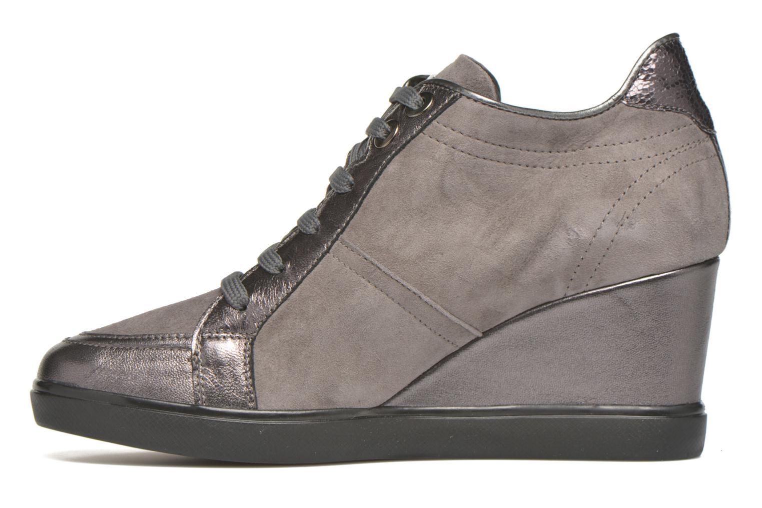 Sneaker Geox D ELENI D D6467D grau ansicht von vorne