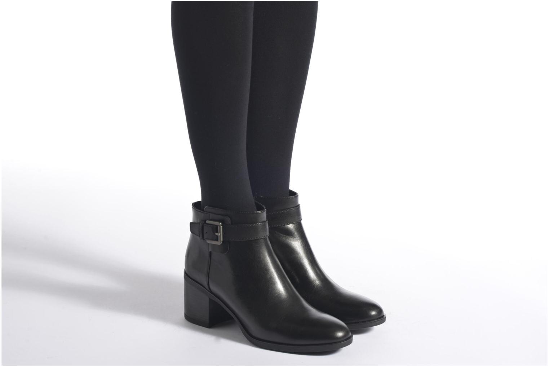 Bottines et boots Geox D GLYNNA B D643CB Noir vue bas / vue portée sac