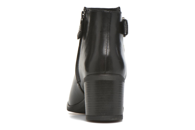 Bottines et boots Geox D GLYNNA B D643CB Noir vue droite