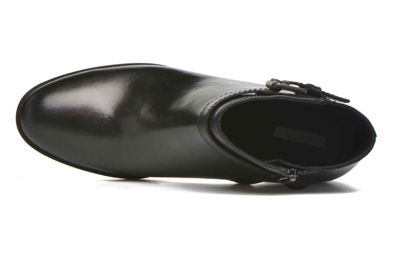 Bottines et boots Geox D GLYNNA B D643CB Noir vue gauche