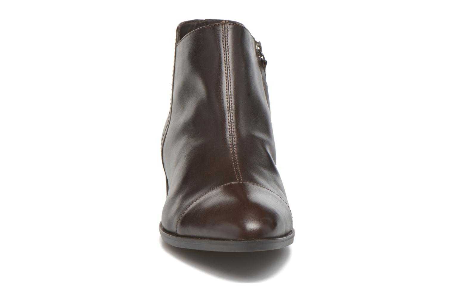 Ankle boots Geox D LOVER B D640CB Brown model view