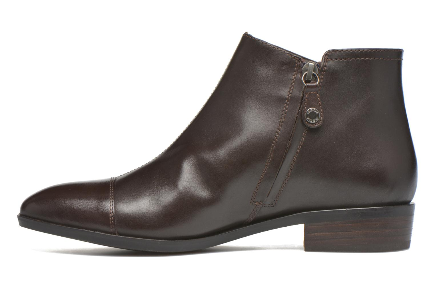 Ankle boots Geox D LOVER B D640CB Brown front view
