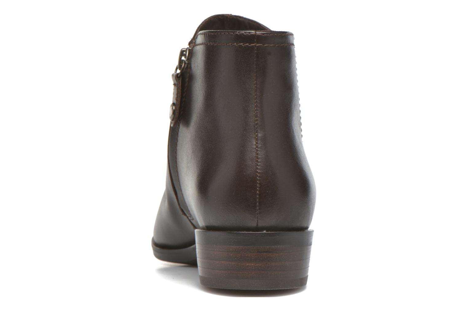 Ankle boots Geox D LOVER B D640CB Brown view from the right