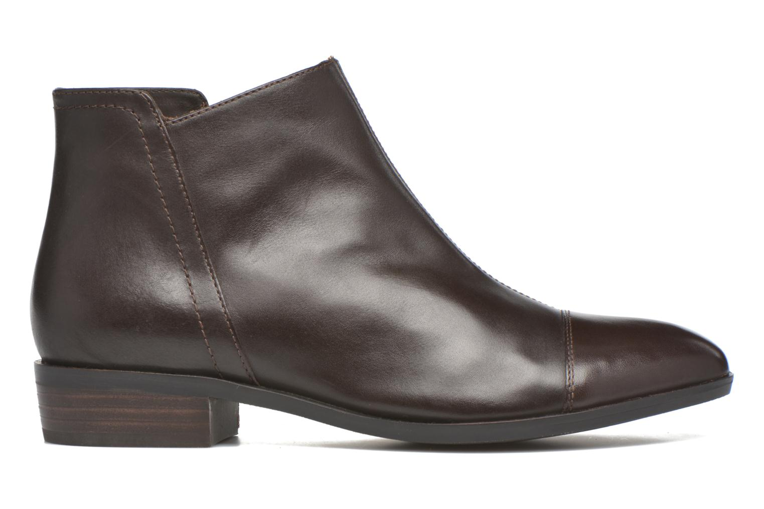 Ankle boots Geox D LOVER B D640CB Brown back view