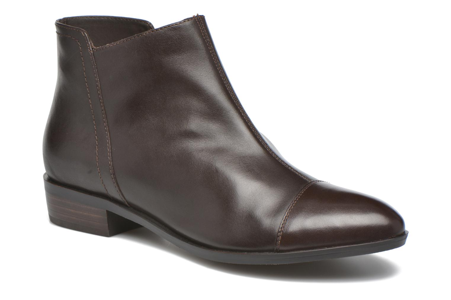 Ankle boots Geox D LOVER B D640CB Brown detailed view/ Pair view