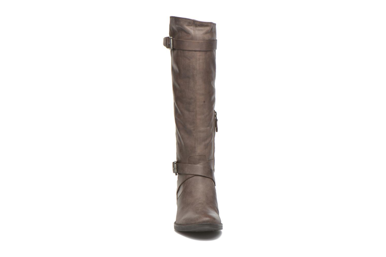 Bottes Geox D MENDI ST D D6490D Marron vue portées chaussures