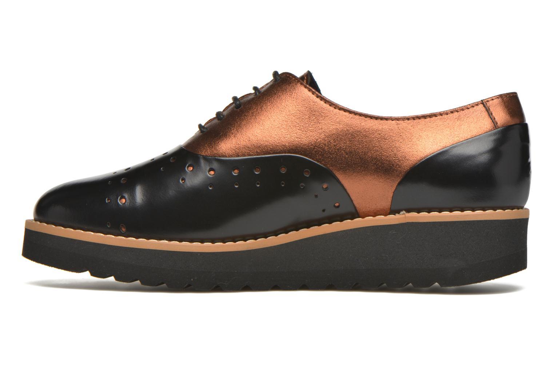 Chaussures à lacets Anaki Marguerite Noir vue face