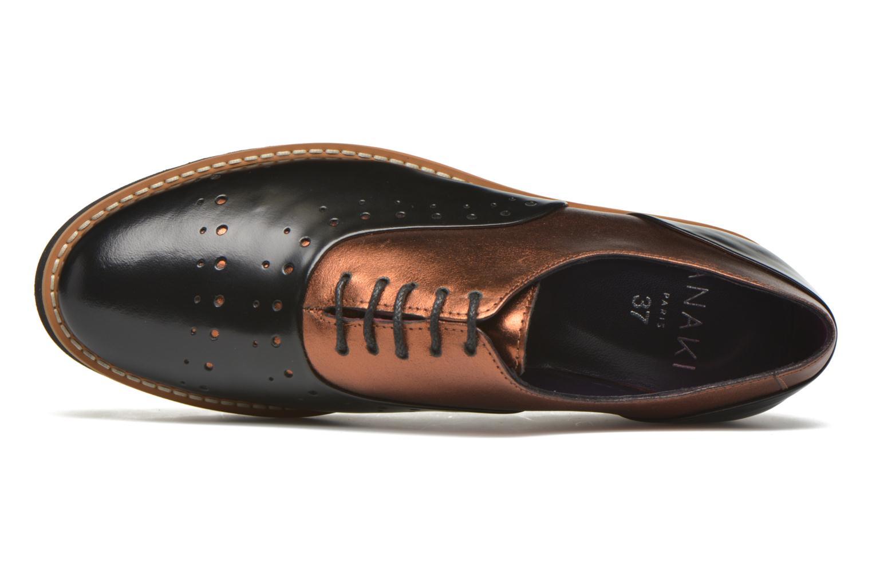 Chaussures à lacets Anaki Marguerite Noir vue gauche