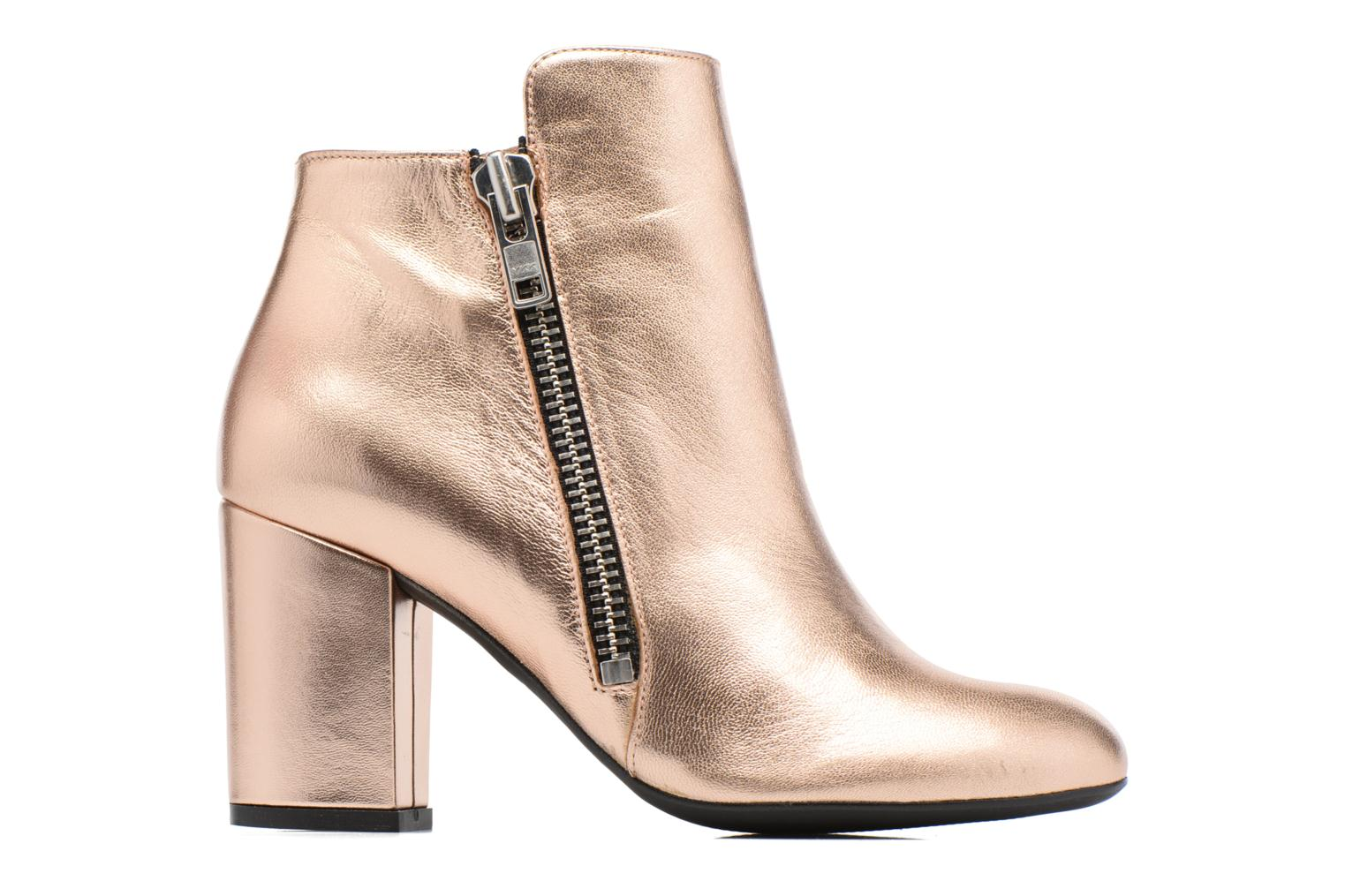 Ankle boots Made by SARENZA Winter Ski #1 Bronze and Gold detailed view/ Pair view