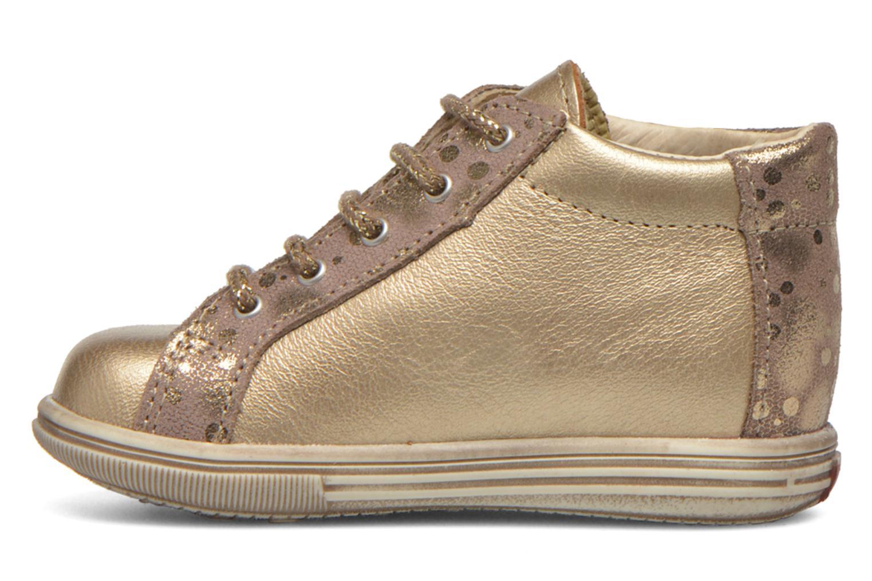 Chaussures à lacets Bopy Zinote Or et bronze vue face