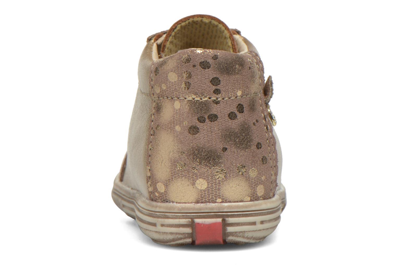 Chaussures à lacets Bopy Zinote Or et bronze vue droite