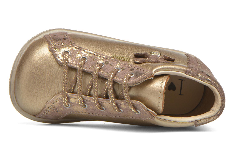 Chaussures à lacets Bopy Zinote Or et bronze vue gauche