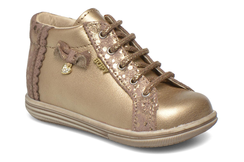 Chaussures à lacets Bopy Zinote Or et bronze vue détail/paire